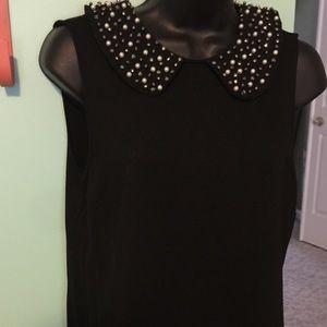 EUC Philosophy beaded black dress size medium